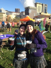 Celebrating our first half marathon together.